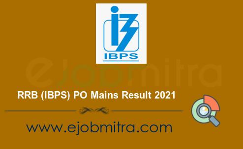 RRB PO Mains Result 2021