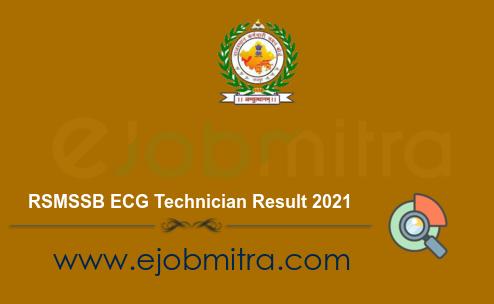 RSMSSB ECG Technician Result 2021