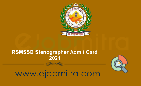 RSMSSB Stenographer Admit Card 2021