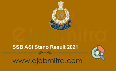 SSB ASI Steno Result 2021