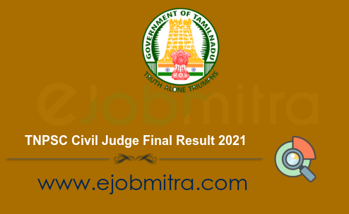 TNPSC Civil Judge Final Result 2021
