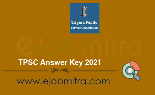 TPSC Answer Key 2021
