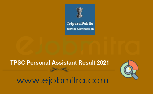 TPSC Personal Assistant Result 2021