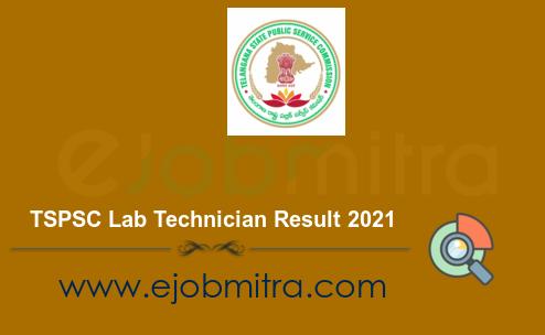 TSPSC Lab Technician Result 2021