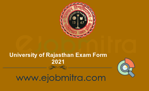 University of Rajasthan Exam Form 2021