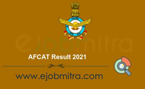 AFCAT Result 2021