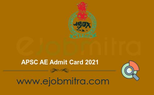 APSC AE Admit Card 2021