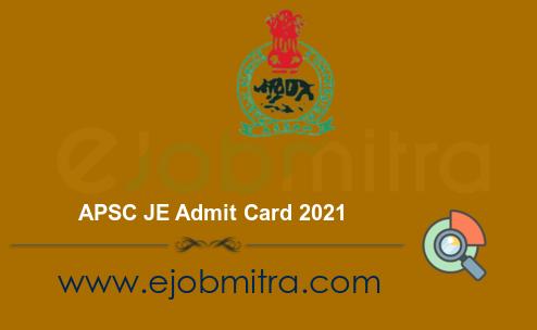 APSC JE Admit Card 2021