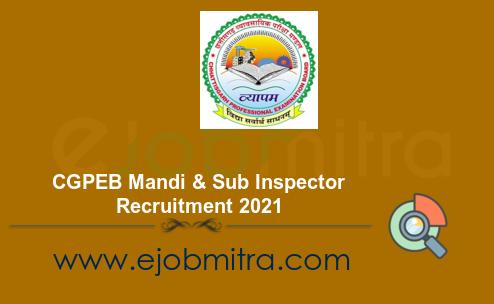 CGPEB Mandi & Sub Inspector Recruitment 2021
