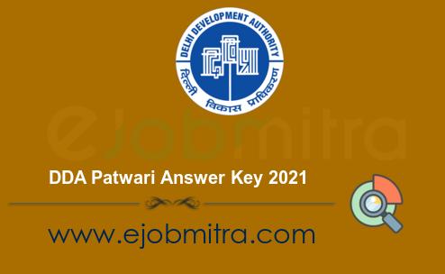 DDA Patwari Answer Key 2021