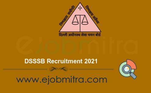 DSSSB Recruitment 2021