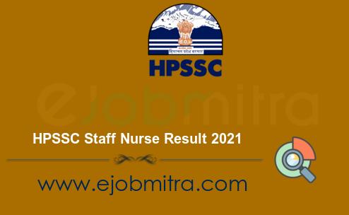 HPSSC Staff Nurse Result 2021