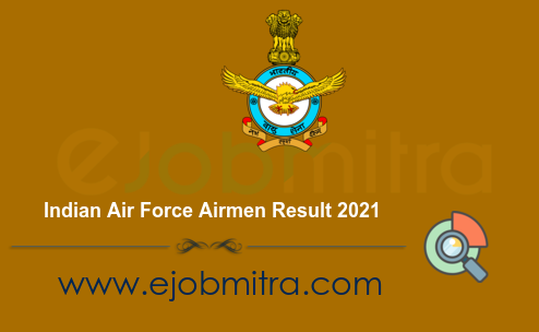 Indian Air Force Airmen Result 2021