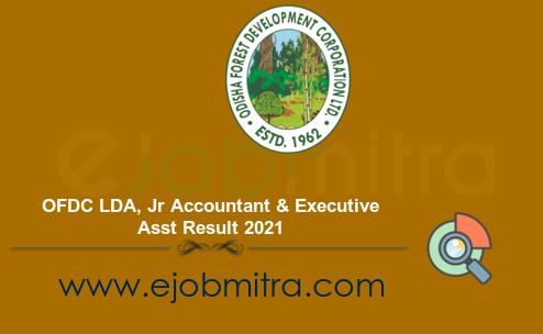 OFDC LDA, Jr Accountant & Executive Asst Result