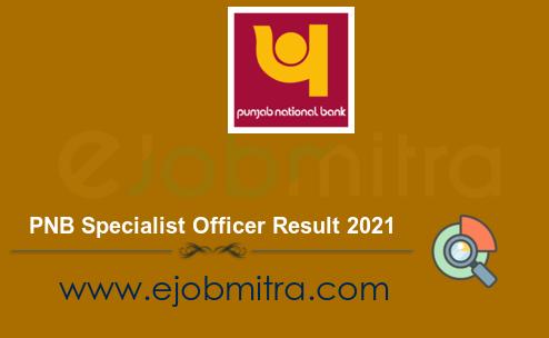 PNB Specialist Officer Result 2021