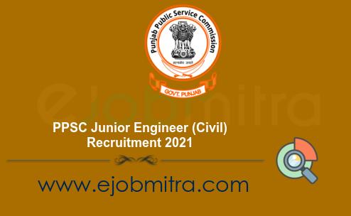 PPSC Junior Engineer (Civil) Recruitment 2021