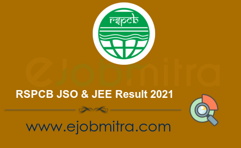 RSPCB JSO & JEE Result 2021