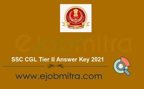 SSC CGL Tier II Answer Key 2021