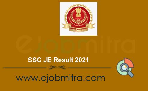 SSC JE Result 2021