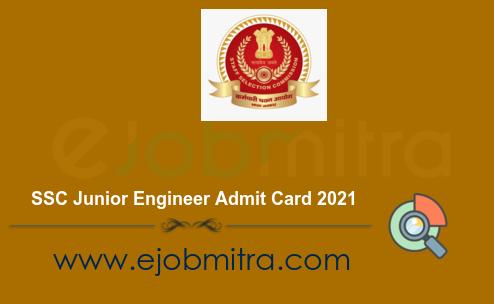 SSC Junior Engineer Admit Card 2021