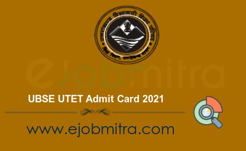 UBSE UTET Admit Card 2021
