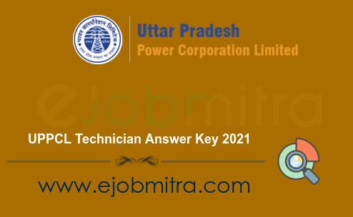 UPPCL Technician Answer Key 2021
