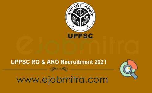 UPPSC RO & ARO Recruitment 2021