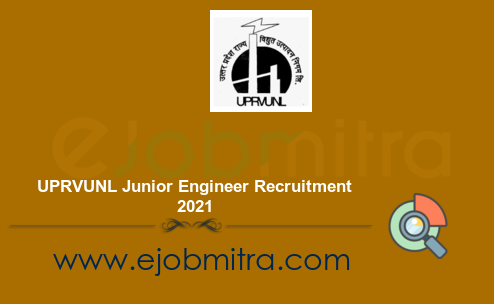 UPRVUNL Junior Engineer Recruitment 2021