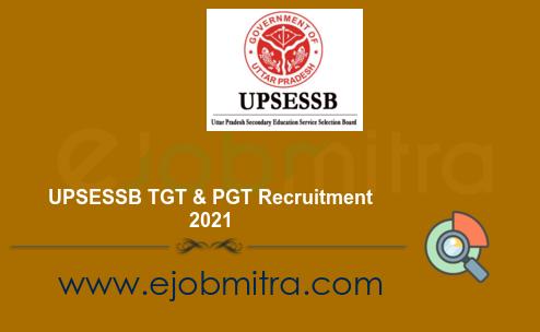 UPSESSB TGT & PGT Recruitment 2021