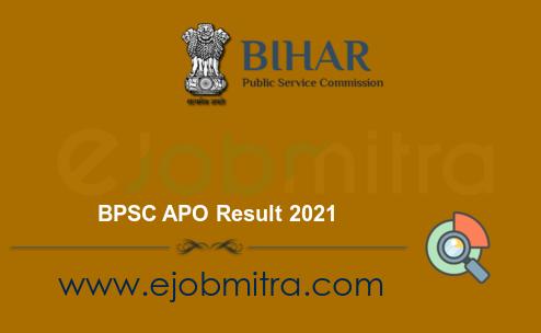 BPSC APO Result 2021