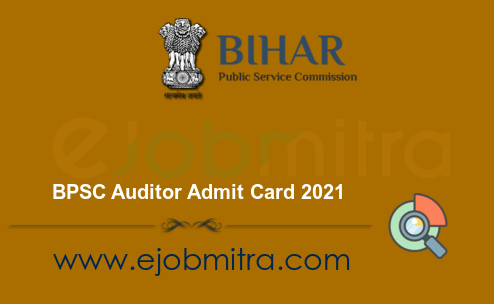 BPSC Auditor Admit Card 2021