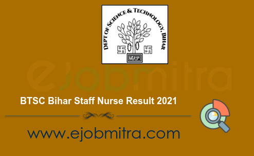 BTSC Bihar Staff Nurse Result 2021
