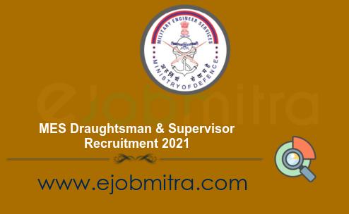 MES Draughtsman & Supervisor Recruitment 2021