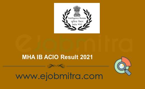 MHA IB ACIO Result 2021