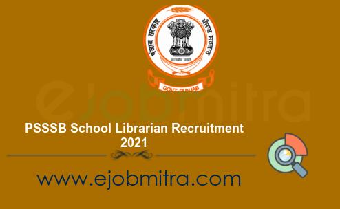 PSSSB School Librarian Recruitment 2021