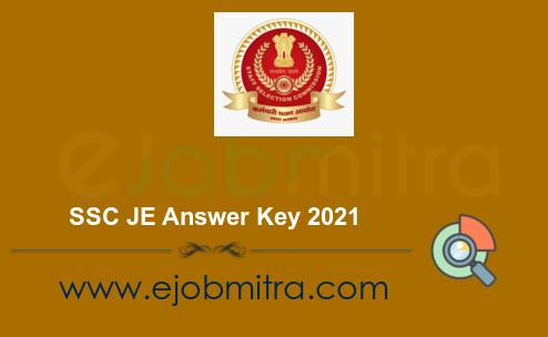 SSC JE Answer Key 2021