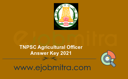TNPSC Agricultural Officer Answer Key 2021