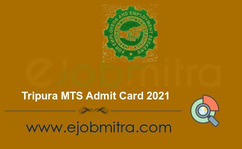 Tripura MTS Admit Card 2021