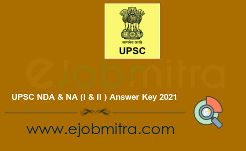 UPSC NDA & NA (I & II ) Answer Key 2021