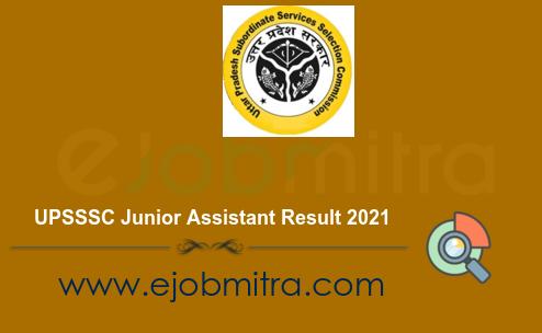 UPSSSC Junior Assistant Result 2021