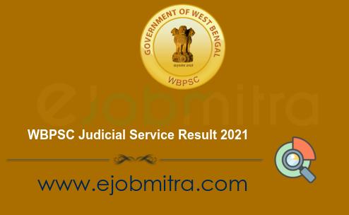 WBPSC Judicial Service Result 2021